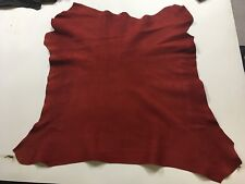 Kid Suede Leather Hide Red