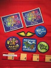 Lot Of 7 Girl Scout Patch ~ Cookie Party Caring Sing Collect & Trade 63DD