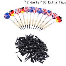 12x Professional Soft Tip Darts aluminium alloy Dart Shaft With 100 Extra TipsBH