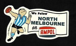 WE FOLLOW NORTH MELBOURNE & AMPOL promo Vinyl Decal Sticker KANGAROOS VFL AFL