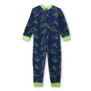 Boys Dinosaur T-Rex Pajamas Size 10-12 Large One Piece Blanket Sleeper Space NEW