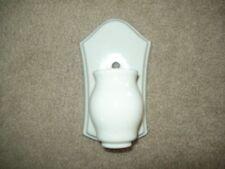 VINTAGE ART DECO WHITE PORCELAIN WALL SCONCE BATHROOM LIGHT FIXTURE