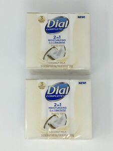 Dial Complete 6 Pack 2 in 1 Moisturizing Antibacterial Beauty Bar - Coconut Milk