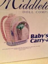Doll Travel Carrier Backpack Cute Schoolbag Storage Bag Kids Girls Pink Blue New