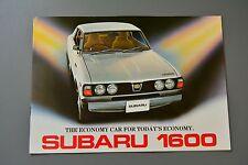 BROCHURE SUBARU 1600 Pick Up Estate Coupe Saloon, 1977