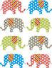 8x Gepunktet Elefant Wandsticker Schlafzimmer kunst kinderzimmer übertragung