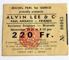 ALVIN LEE & C° : Rare billet concert Collector ticket BELGIUM 29/11/1974