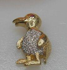 Anhänger Ente mit Diamanten 0,28 und Rubin 585er Gold