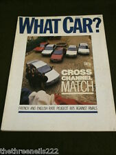WHAT CAR? - PEUGEOT 405 - JAN 1988