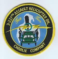 "C CO 3-227th AHB  ""FIRST TEAM"" patch"