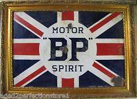 1920-30s Porcelain 'BP' BRITISH PETROLEUM MOTOR SPIRIT Sign 'Best Possible'