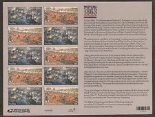 2013 #4787-4788 The Civil War:1863 pane of 12 without die Cuts Mint