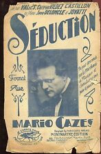 PARTITION ANCIENNE SEDUCTION MARIO CAZES