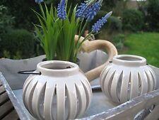 """Shabby Windlicht """"Safia""""  Tischdeko Vintage Teelicht Keramik Laterne Deko EDEL"""