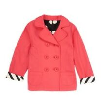 New Gymboree Purrfectly Fabulous Girl's Coral Cotton Trench Coat Jacket 10-12