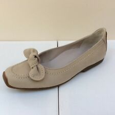 K&S Susa beige suede flats with bow detail, UK 7.5/EU 40.5, RRP £145, BNWB