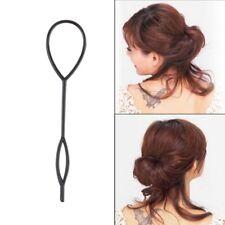 Haarpflege Set Topsy Tail 4 Elemente Füllstoff Haarknoten Knotenrolle Kokpin 3 Farben Blau Beauty & Gesundheit