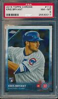 KRIS BRYANT 2015 TOPPS CHROME RC #112 PSA 8 NM-MT CHICAGO CUBS #25530017