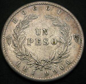NUEVA GRANADA (Colombia) Peso 1858 - Silver - VF+ - 1608 *