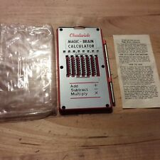 Vtg Chadwick Mechanical MAGIC-BRAIN Calculator W/ Stylus
