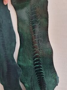 100% GENUINE OSTRICH LEG SKIN LEATHER HIDE exotic leather