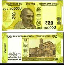 INDIA 20 Rupees New Gandhi x 100 Pcs Full Bundle Lot UNC Ellora Caves BANK NOTE