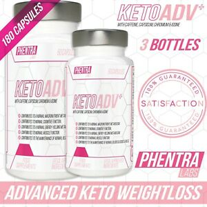 3 x Phentra Labs Keto Advanced Ketosis Fat Burner Slimming Pills for Weight Loss