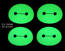 Baymax Head - 4 Glow in the Dark Decals - 2 x 1 Inches