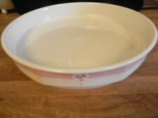 Royal Doulton China Calico Red Quiche Dish.Baking Dish For Flan Quiche Dish