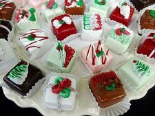 SET OF 6 DECORATED CHRISTMAS CANDIES