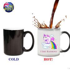 21.Novelty Unicorn Heat Colour Changing Mug Ceramic Coffee Tea Cup Funny Gift MN