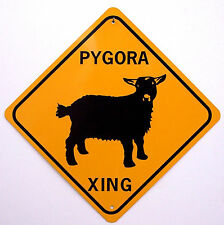 Pygora Xing Aluminum Goat Sign Won't rust or fade