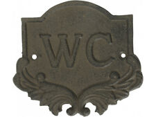 CAST IRON WC SIGN TOILET SIGN RUSTIC