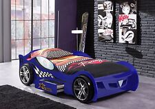 Turbo Race Car Bed, Childrens Bed, Kids Beds, Boys Car Bed, Sports Car Bed -Blue