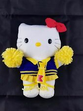 "Sanrio Hello Kitty 8.5"" Plush Rare Yellow Pom Pom Cheerleader From Japan"