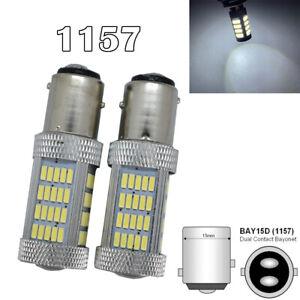 Brake Light 1157 2057 2357 2397 3496 7528 BAY15D P21/5W 92 LED White M1 R