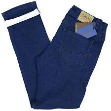 Coveri - Jeans uomo 5 tasche pantalone slim fit denim scuro invernale felpato sp