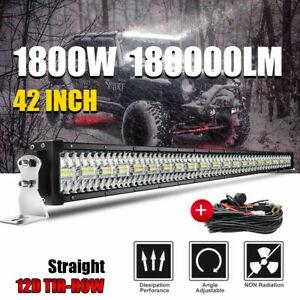 "Tri Row 42INCH LED Light Bar 6272W Driving Offroad Flood Spot Combo Beam PK 50"""