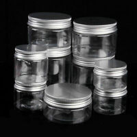 50ml-250ml Empty Aluminum Cosmetic Tin Pot Lip Balm Jar . Wax Containers AU Y3Q6