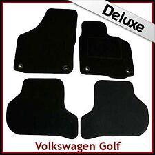 VW Golf Mk5 2003-2008 Oval Eyelets Tailored LUXURY 1300g Carpet Car Mats BLACK