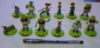 Shrek Raro Set 12 Mini Figuras Colección 5cm Fiona Orco y Feliz Navidad Cat Bota