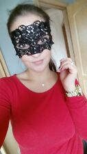 BLACK LACE STUNNING VENETIAN MASQUERADE EYE MASK HALLOWEEN PARTY FANCY DRESS