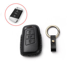 Leather Key Fob Case Cover Holder For VW Passat for Skoda Superb A7 Accessories