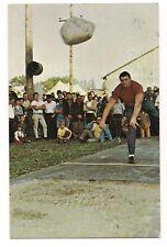 Bob Moorhead STEINSTOSSEN CHAMPION Stone Throwing SUGARCREEK Ohio Postcard 89