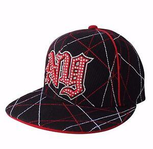 Hip Hop Urban Cap Hat Fitted Black Flat Visor fitted urban Vibe cap urban NY