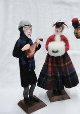 SIMPICH LADY WITH MUFF 1952 CHRISTMAS CAROLLERS CHARACTER DOLL