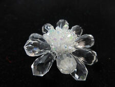 Chunky Unique Clear Crystal Brooch Retro Cool Winter Piece (B4)