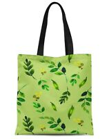 S4Sassy Feuille verte feuilles imprim? R?utilisable Sac fourre-tout-uNr
