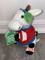 Animated Musical Holiday Caroling Cow Critters Christmas Songbook Vintage Doll
