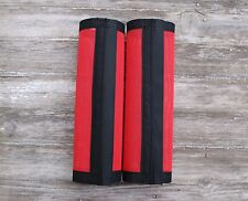 Fly Protection Leg Wraps /Leggings For Horses, Straight Fly Boots Set Of 2,Red